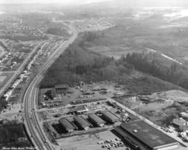[Aerial photograph of north Burnaby near intersection of Lougheed and Sperling]