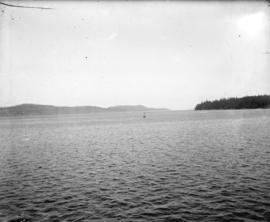 [View of Gulf Islands from ferry]