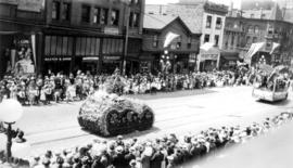 [The Spencer Limited float in the Dominion Day Parade]