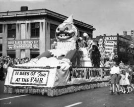 Pacific National Exhibition float in 1949 P.N.E. Opening Day Parade