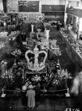P.N.E. Horticultural Show, with coronation-themed crown of flowers
