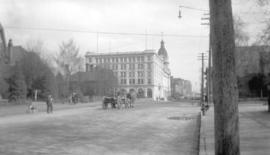 [View of] Hastings St. looking east from Hornby