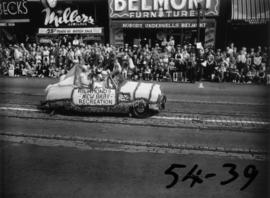 "Richmond's ""New Baby"" Recreation decorated car in 1954 P.N.E. Opening Day Parade"