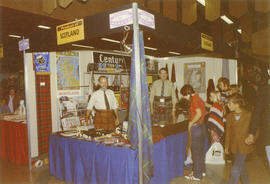Display of products from Scotland at 1971 P.N.E. International Bazaar