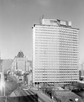 B.C. Electric [Hydro Building - 970 Burrard Street under construction]