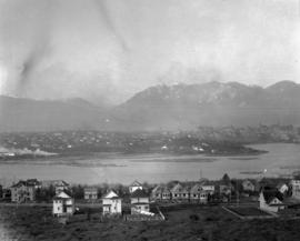 [View of False Creek looking north from 12th Avenue and Oak Street]