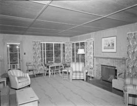 [Interior view of a sitting room in a Bowen Island guesthouse]