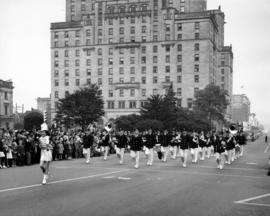 Marching band in 1948 P.N.E. Opening Day Parade