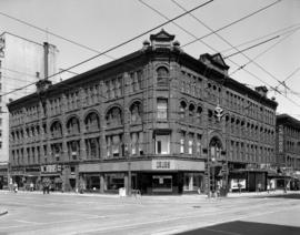 [Exterior of the Fairfield Building on the northwest corner of  Granville Street and Pender Stree...