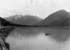 Wharf at Bella Coola from northwesterly from near the end of wharf