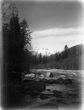 [View of The Lions from the Capilano River]