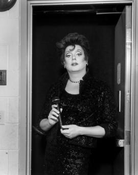 Robyn Graves as Judy Garland backstage during 'fit for a queen' [at the] Stanley Theatre