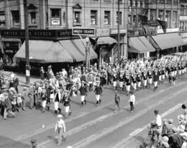 Naval parade and review [Granville and Dunsmuir]