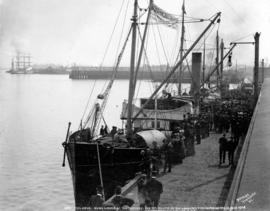 The Amur - being loaded at Vancouver, B.C. for the relief of San Francisco earthquake and fire