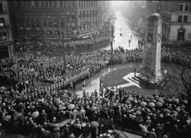 Remembrance Day ceremony at Cenotaph