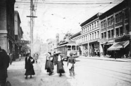 [Granville Street looking north from Robson Street]