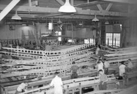 [Interior view of Burrard Drydocks south yard boat building facility]