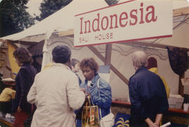 Indonesia Bali House stand at Food Fair during the Centennial Commission's Canada Day celebrations