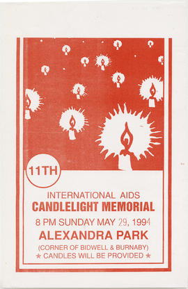 11th international AIDS candlelight memorial : Sunday, May 29, 1994 : Alexandra Park