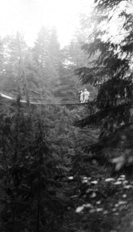 On the [Capilano] suspension bridge