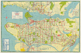Transit system map of Greater Vancouver, B.C.