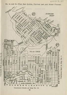 Sectional map and street directory of Vancouver, British Columbia : [Carrall Street to Hastings S...