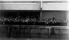 [Crowd on unidentified dock]