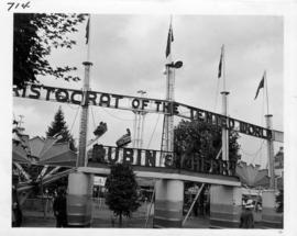 Aristocrat of the tented world, Rubin and Cherry : [sideshow sign on fairgrounds]