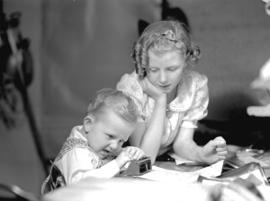 Shirley and Bobby [Coltman] - children study
