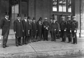 [Mayor] Harry Gale [with delegation - H.R.H. Prince of Wales visit]