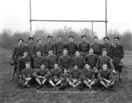 Vancouver College Canadian Football Team 1933