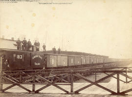 "[C.P.R. ""Tea"" train leaving dock at foot of Howe Street for Chicago World Fair]"
