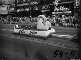 Bell-Ship float in 1954 P.N.E. Opening Day Parade