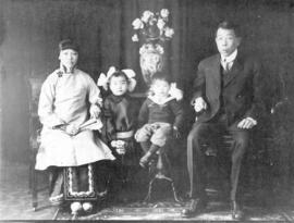 [Portrait of unidentified family]