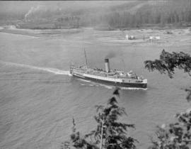 "[View of Princess ""Adelaide"" entering harbour]"