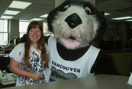 Tillicum with a Vancouver City Hall employee