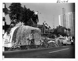 Evans, Coleman and Evans Co. float in 1956 P.N.E. Opening Day Parade