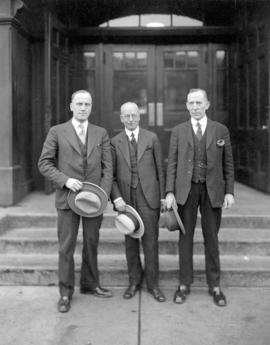 [Reeve Cornett of South Vancouver, Mayor L.D. Taylor of Vancouver and Councillor Lembke of Point ...