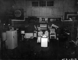 B and W Products display of household appliances