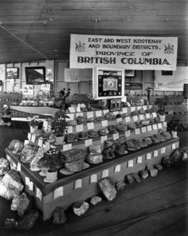 East and West Kootenay and Boundary Districts, Province of British Columbia display of minerals a...