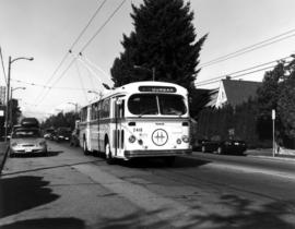 Brill trolley bus, southbound on Dunbar at 31st Avenue