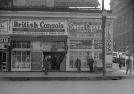 [Exterior view of Wilson's News Stand]