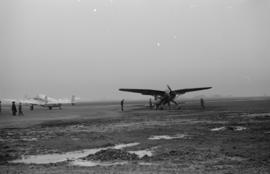 [Westland Lysander plane on runway]