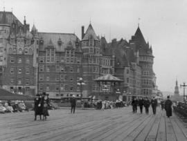[The Hotel Frontenac from the boardwalk]