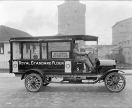 [Little giant truck (Royal Standard Flour) with Vancouver Milling and Grain and Co. Ltd. in backg...