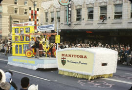 48th Grey Cup Parade, on Georgia and Howe, province of Manitoba float