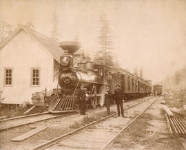 [C.P.R. engine #374 and transcontinental passenger train]