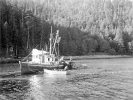 "[Nelson Brothers' salmon seiner M.V. ""Departure Bay No. 5""  powered by a ""Caterpil..."