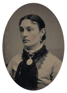 [Head and shoulders portrait of woman]