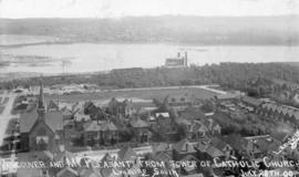 [Bird's eye view of] Vancouver and Mt. Pleasant from tower of Catholic Church [Holy Rosary C...